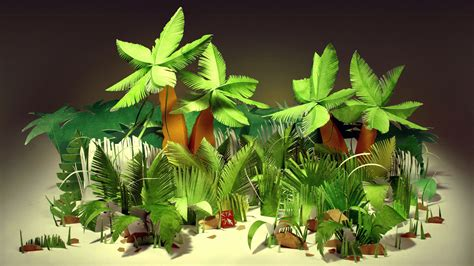 How To Make Paper Palm Leaves - jungles tropical palm trees bushes leaves paper cardboard
