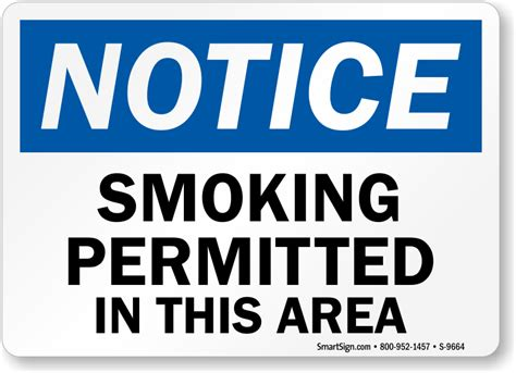 permitted in this area osha notice sign sku s