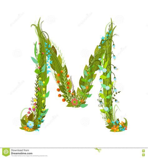 flower design m letter m flower calligraphy floral elegant decorative