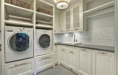 Premade Laundry Room Cabinets Laundry Utility Closets Americlosets Custom And Diy Closet Organizers