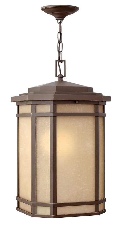 Outdoor Entryway Lighting 1 Light Led Outdoor Foyer Pendant 479 00