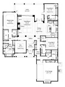 Ranch House Plans With Open Floor Plan Ranch Open Floor Plan House Plans Pinterest