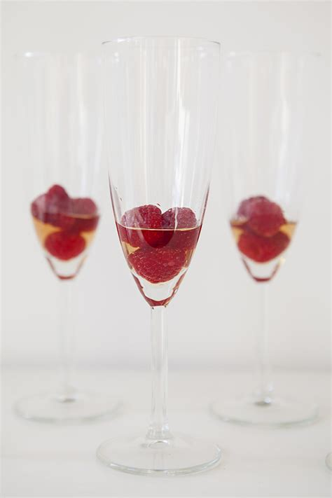signature drink raspberry chagne cocktail recipe