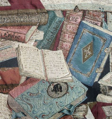 books on upholstery tapestry fabric antique library book print 50 inches by 28