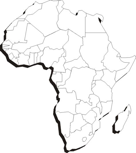 printable map africa blank puzzle piece outline cliparts co