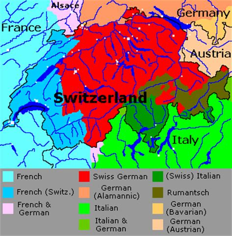 switzerland map languages languages of switzerland indo european languages map