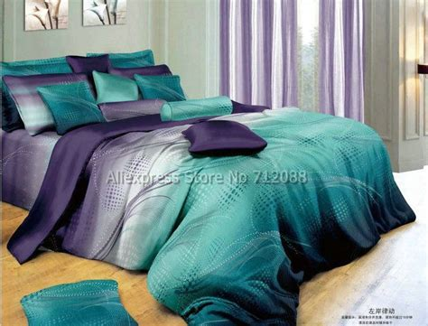 teal and purple bedroom cotton mordern design blue purple geometric pattern hot