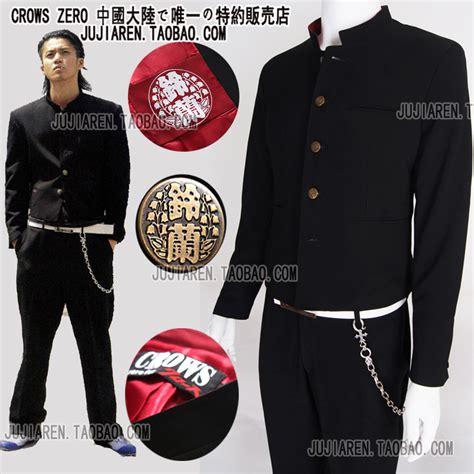 Blazer Crows Zero Gakuran School Edition aliexpress acheter uniforme scolaire japonais mis m 226 le mince veste tunique chinois costume