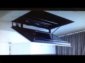 motorized flip flat screen tv ceiling mount