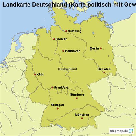 deutsches büro grüne karte formular landkarte deutschland karte politisch mit gew 228 ssern