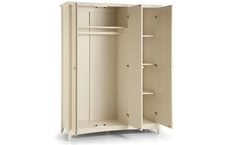 3 Door Wardrobe With Shelves by White 3 Door Wardrobe With Haning And Shelves Julian
