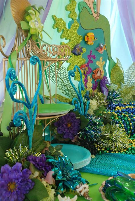 The Sea Decoration by Mermaid The Sea Theme Table Display