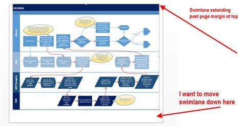 how to create a swimlane diagram in visio visio 2013 can t move swimlane diagram on page