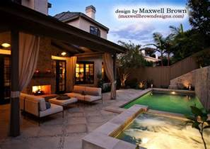 port district small yard pool spa traditional pool orange county by maxwell brown