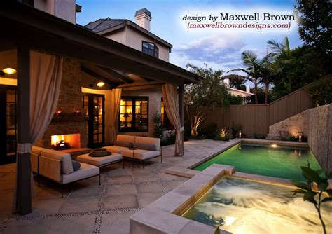 Backyard Pool And Spa Port District Small Yard Pool Spa Traditional Pool Orange County By Maxwell Brown