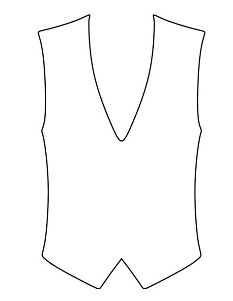 vest top template vest pattern use the printable outline for crafts