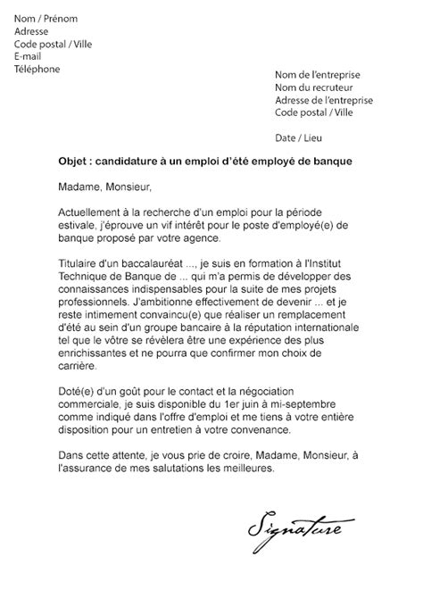 Lettre De Motivation Banque Word Lettre De Motivation D 233 T 233 Banque Mod 232 Le De Lettre
