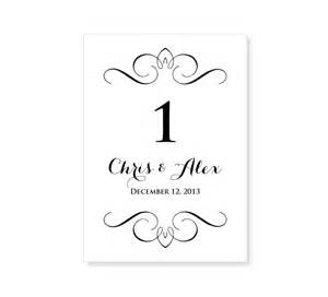 free wedding table number card templates wedding