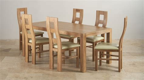 dining table sets 6 chairs 6ft dining table sets oak furniture land