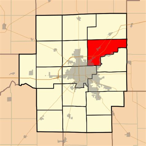 Macon County Il Search Information File Map Highlighting Whitmore Township Macon County Illinois Svg