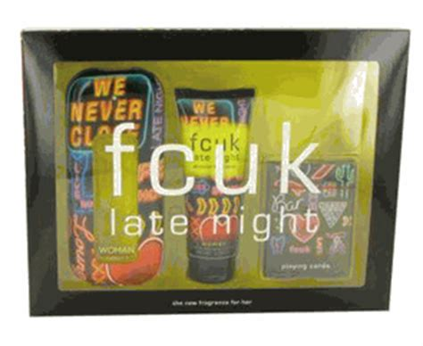 French Connection Gift Card - fcuk late night by french connection gift set 3 4 oz eau de toilette spray 3 4 oz