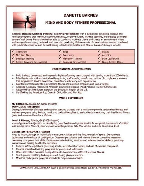 cover letter personal trainer 70 images server trainer resume