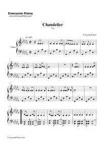 Sia Chandelier Music Chandelier Sia Stave Preview 1 Free Piano Sheet Music