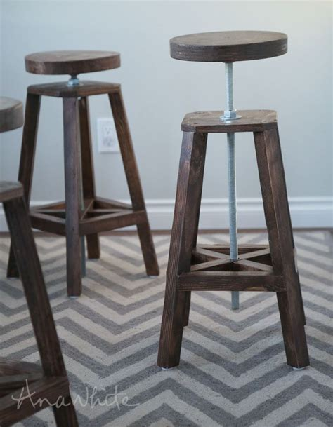 Diy Suspended Bar Stools by White Build A Industrial Adjustable Height Bolt Bar