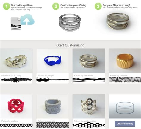 3ders org design your own 3d printed ring with shapeways