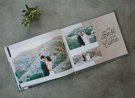 Wedding Photo Book Design Inspiration by Create Your Wedding Album Cards With Mixbook Green