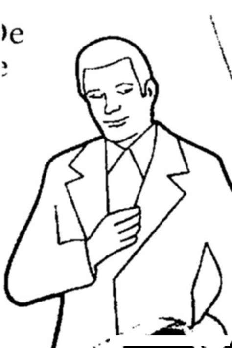 dibujos para nios de hombres para colorear pintar colorear hombre con saco colorear dibujos de cholo