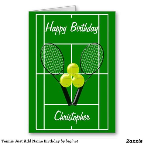 Tennis Birthday Cards 19 Best Images About Tennis Theme Greeting Cards On