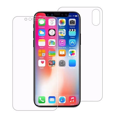 Anti Jelly Iphone X pelicula fina frente traseira iphone x 10 gel transp r 17 76 em mercado livre