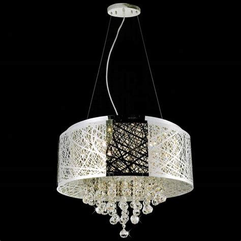 drum shade pendant chandelier brizzo lighting stores 22 quot web modern laser cut drum