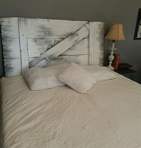 Barn Door Headboard by Painted Barn Door Headboard