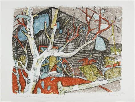 der stall alois carigiet ziegenhirte 1965 lithograph