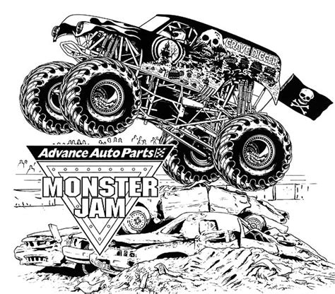 grave digger monster truck coloring pages monster jam coloring pages printable coloring image