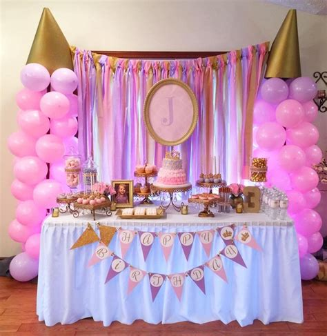 princess themed party venues pink and gold princess birthday party princess birthday