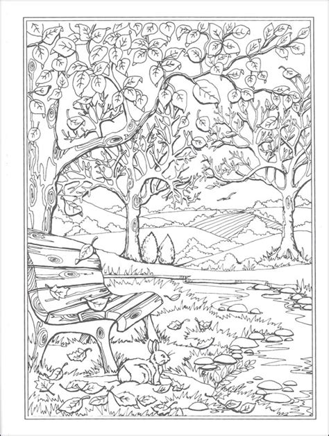 autumn scene coloring pages autumn scenes coloring book miss adewa 904a5c473424