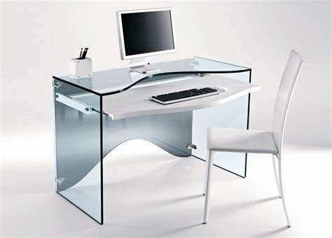 Modern Glass Desk Tonelli Strata Glass Desk Glass Desks Home Office Furniture Tonelli Design