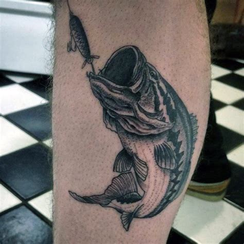 fishing tattoo ideas for men 75 bass designs for sea fairing ink ideas