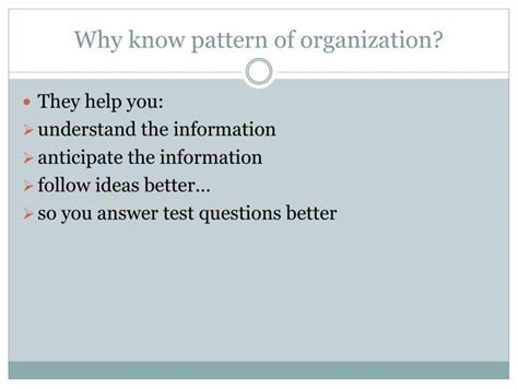 patterns of organization in reading powerpoint ppt patterns of organization powerpoint presentation