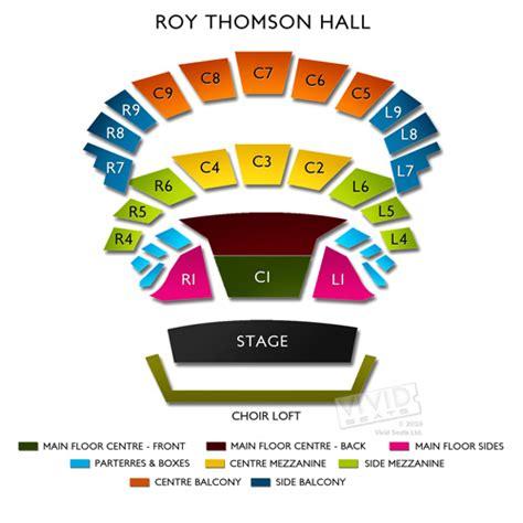 Molson Amphitheatre Floor Plan roy thomson hall seating chart vivid seats