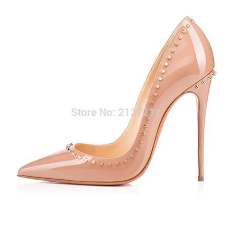 fashion high heel 2016 new fashion rivet high heel sandals solid s