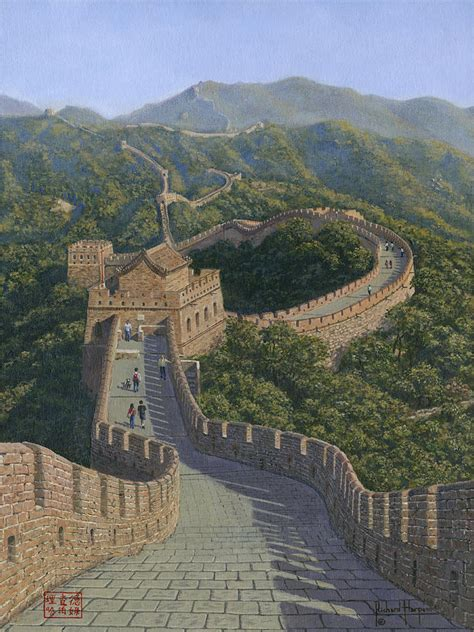 Great Wall Of China Mutianyu Section by Great Wall Of China Mutianyu Section Painting By Richard