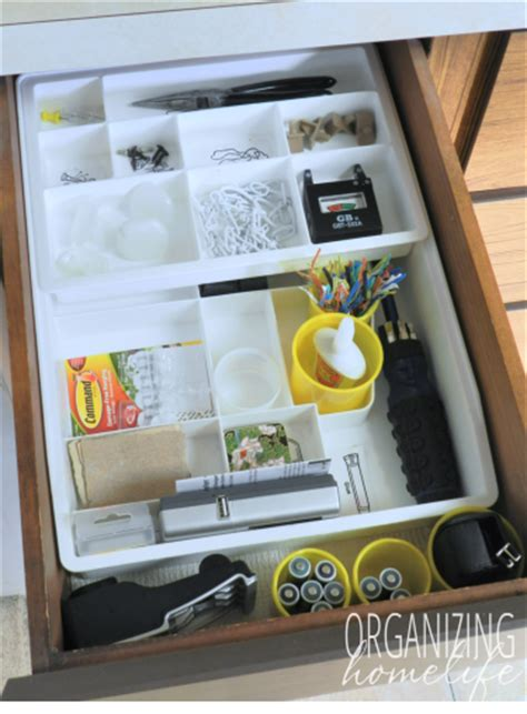 Organize Junk Drawer Kitchen by How To Organize A Junk Drawer Organize Your Kitchen Frugally Day 13 Organizing Homelife
