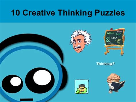 10 creative thinking puzzles edited