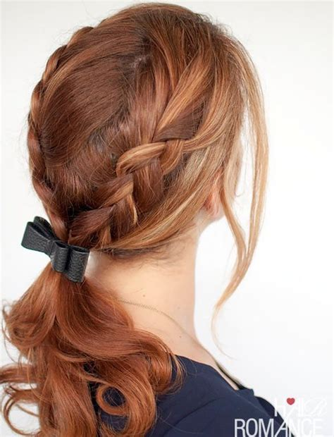 hairstyles with braids and ponytail braided ponytail hairstyles 40 cute ponytails with braids