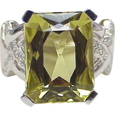 Hq 1 20 Ct Top Gren Tourmaline Turmalin Tm 10 1 big lime green tourmaline ring 14k white gold
