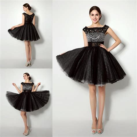 Black Sweet Style Dress N0264 cheap sweet 16 dresses in stock lace homecoming